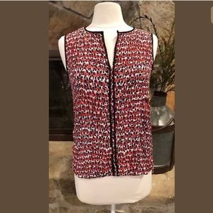 Zara Woman Shirt S Sleeveless Hi-Lo Multicolored